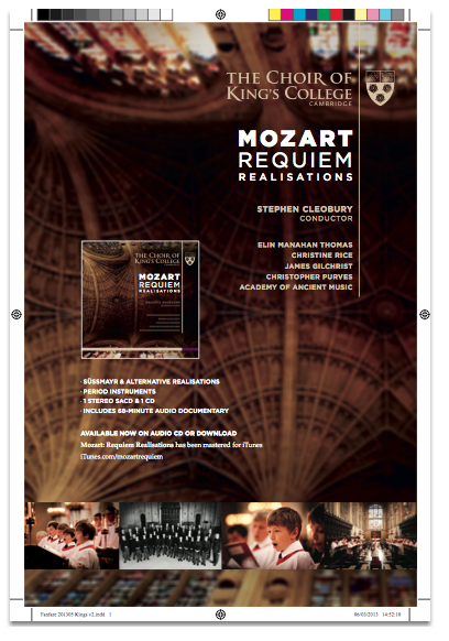 Mozart Requiem Full Page Ad