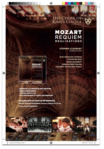 Mozart Requiem Full Page Ad