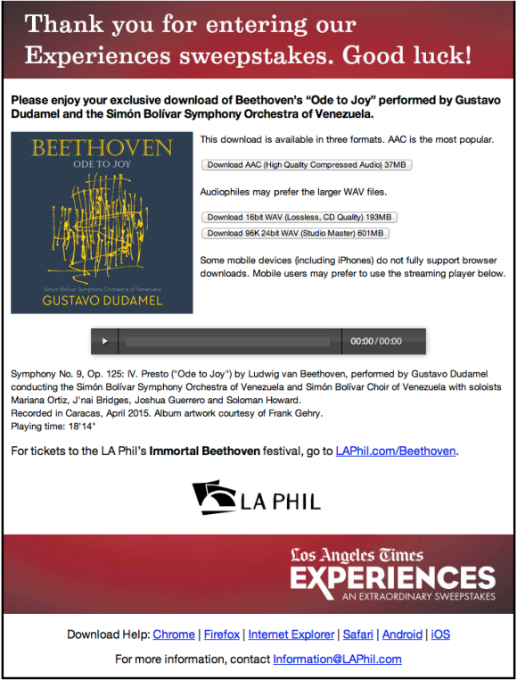 LA Phil Download Page